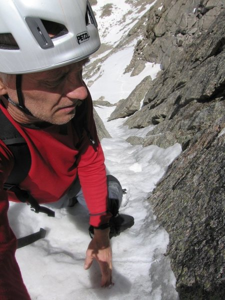 Me on The Snave Direct of Mount Evans.<br> Photo: J.Czyz
