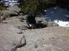 Rock Climbing Photo: The super fun 1st pitch.