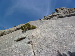 Rock Climbing Photo: High on the second pitch.