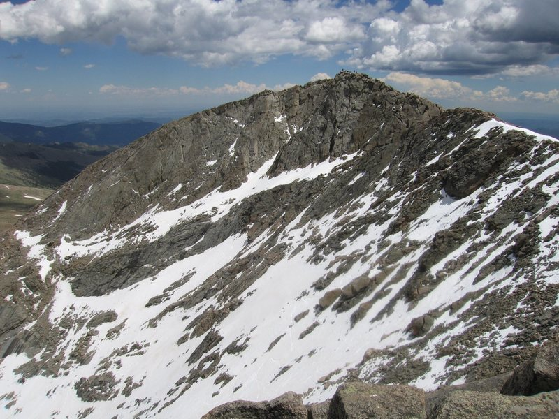 The north face of Mount Evans.<br> Photo: J. Czyz.