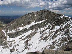 Rock Climbing Photo: The north face of Mount Evans. Photo: J. Czyz.