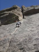 Rock Climbing Photo: Another shot of the amazing 2nd pitch....  You're ...