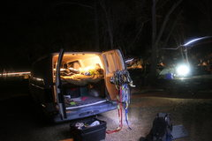 Rock Climbing Photo: The van in South Campground, Zion NP