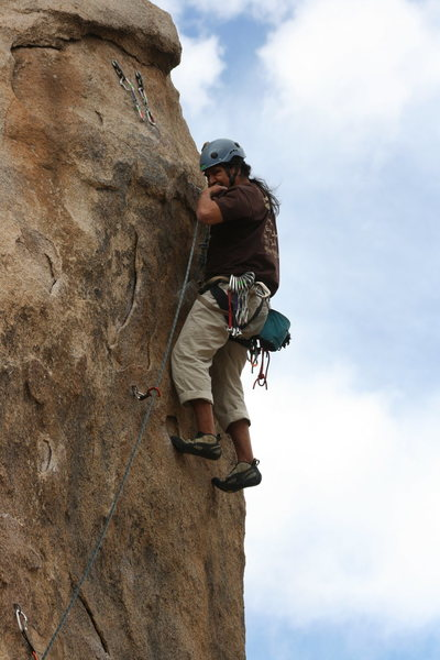 Rock Climbing Photo: Albert on Rise and Devour