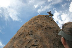 Rock Climbing Photo: Albert at the top of Rise and Devour looking very ...