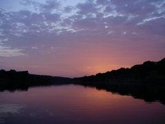 Rock Climbing Photo: Sunrise, Brazos River, Graham, Texas