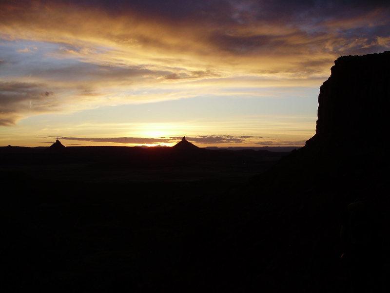 Sunset over Indian Creek, Utah