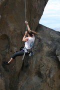 Rock Climbing Photo: Agina on Necessary Evil or off on a swing I should...