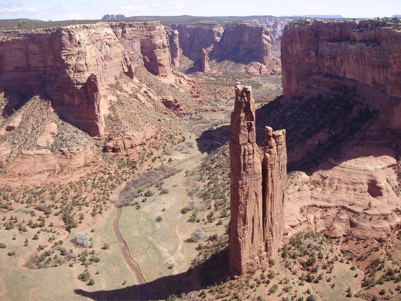 Rock Climbing Photo: Spider Rock, Canyon de Chelly, Arizona