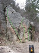 Rock Climbing Photo: Boulder by the road.