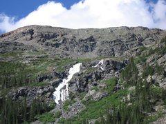 Rock Climbing Photo: Lincoln Falls in summer climbable condition, 06-29...