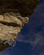 Rock Climbing Photo: Keith chalking up on Mighty Dog, getting ready to ...