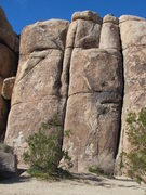 Rock Climbing Photo: Double Crack (L) and Toe Jam Express (R); shows re...