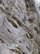 Rock Climbing Photo: Gordon Anderson getting the onsight at age 11.