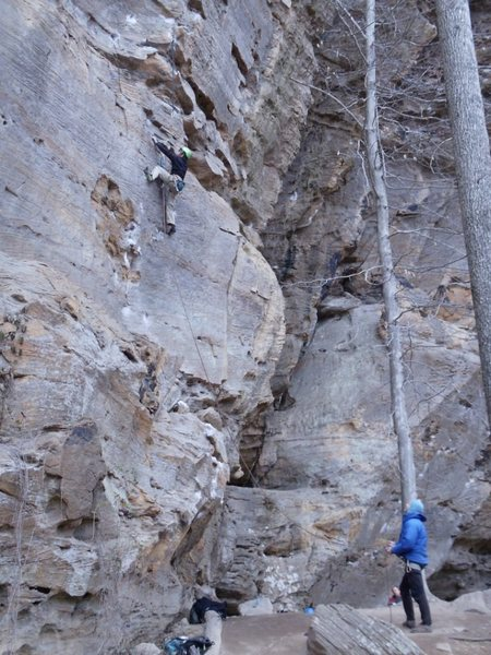 Rock Climbing Photo: Another shot of the yougster going after it.