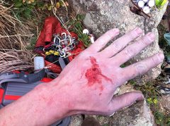 Rock Climbing Photo: Don't bother trying to jam the flake in the back u...