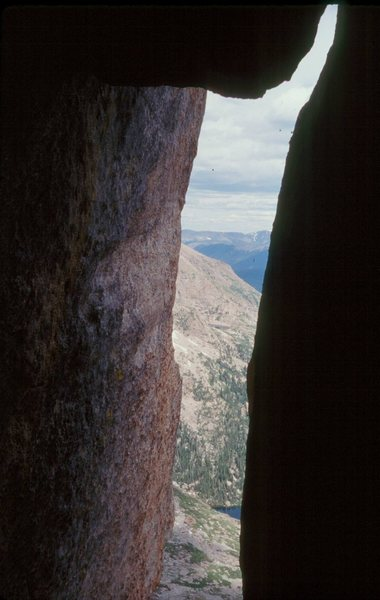 Rock Climbing Photo: Looking out at your stemming objective.  That crac...
