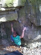 Rock Climbing Photo: Move to the arete