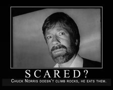 Rock Climbing Photo: Chuck Norris eats rocks