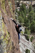 Rock Climbing Photo: Eldorado Canyon, Barrel of Monkeys, Kevin Murphy