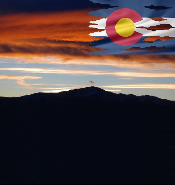 Pikes Peak at Dusk