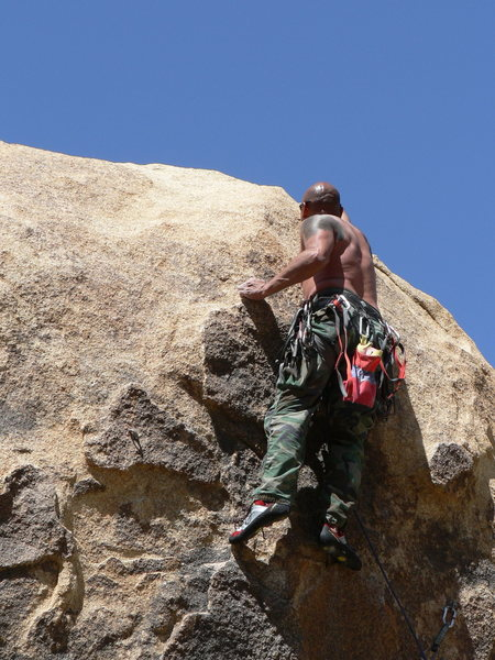 Rock Climbing Photo: Trying to top out