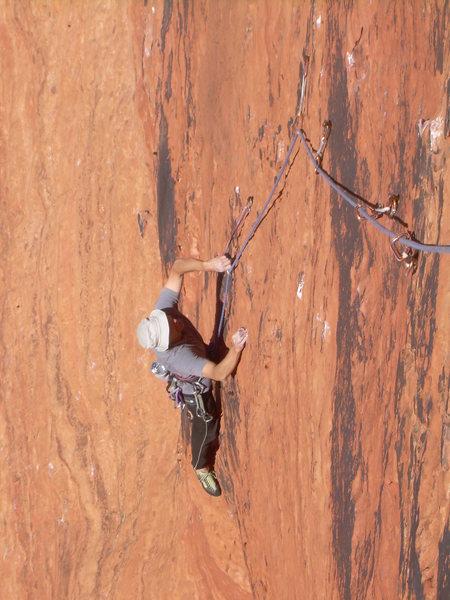 Rock Climbing Photo: Craig follows the first pitch