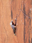 Rock Climbing Photo: Craig follows the first pitch