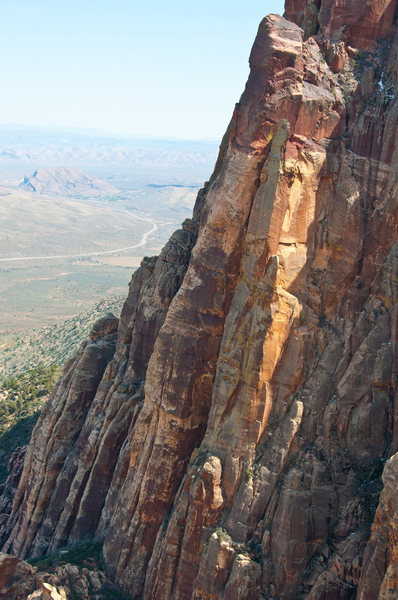 Rock Climbing Photo: Climbers on Crimson Chrysalis. Shot on 4/10/2011 f...