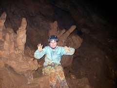 Rock Climbing Photo: I am a cave monster!