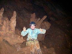 Rock Climbing Photo: I am a cave monster!