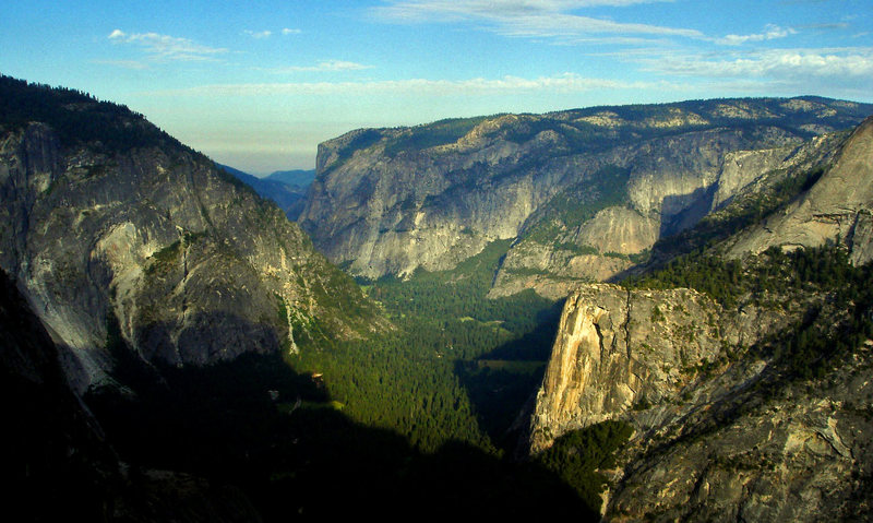 Looking west down the Valley from the base of Half Dome