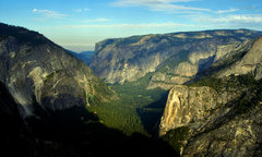 Rock Climbing Photo: Looking west down the Valley from the base of Half...