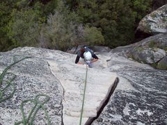 Rock Climbing Photo: Almost to the top of Bishop Terrace...cant wait to...