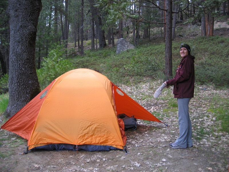 Gettin camp set up in Yosemite!!