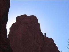 Rock Climbing Photo: 1st anchors on Montezuma's tower 2007