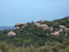 Rock Climbing Photo: View of the Warm Up Boulders from the overlook on ...