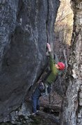 Rock Climbing Photo: Pulling off the ground.