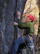Rock Climbing Photo: Bruce trying really hard!