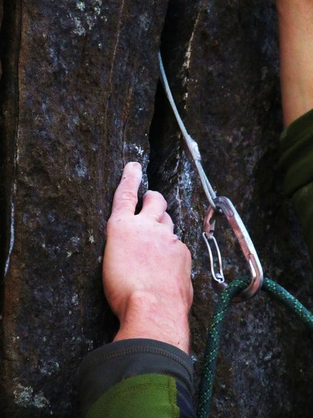 Rock Climbing Photo: Warning: this might be a bit painful.