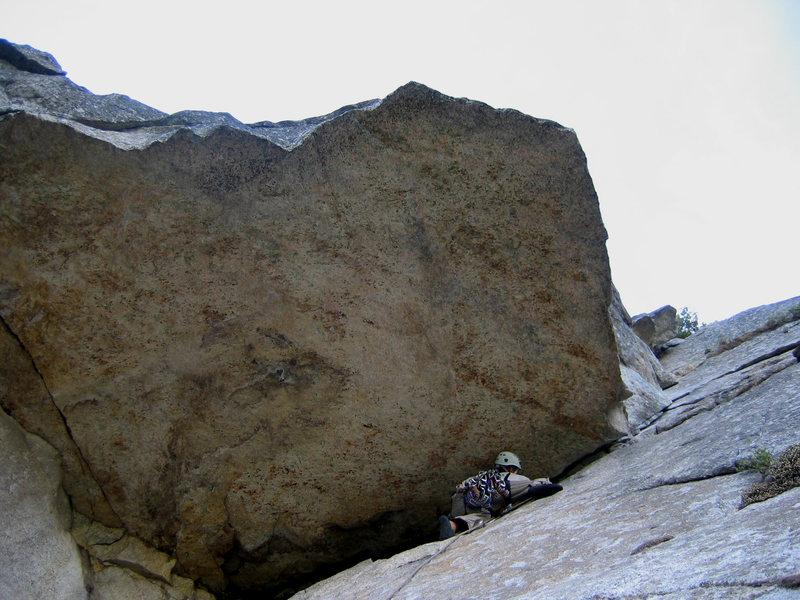 "Matt Johnson on ""Commitment"" 5.9 at Yosemite Valley, CA."