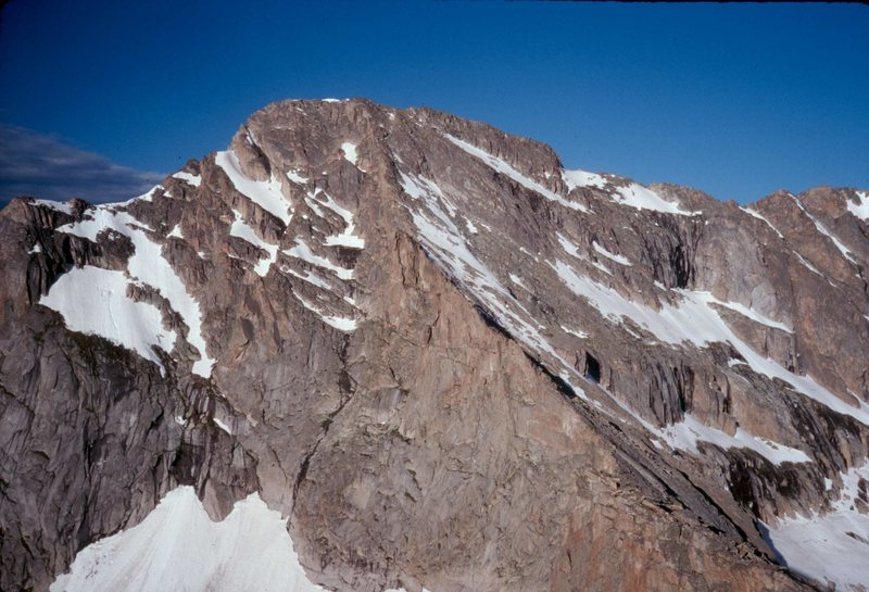 The ne ridge of McHenry's Peak, as viewed from the summit of Arrowhead.