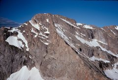 Rock Climbing Photo: The ne ridge of McHenry's Peak, as viewed from the...