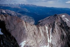 Rock Climbing Photo: The ridge between Powell and Thatchtop.  There is ...