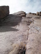 Rock Climbing Photo: This is further up and you can see the entrance in...