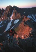 Rock Climbing Photo: Babcock Peak as viewed from the traverse to Moss M...