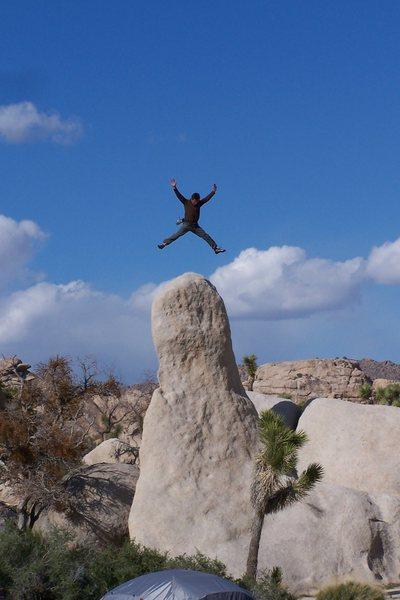 Rock Climbing Photo: My momentary lapse of reason on The Phallus boulde...