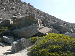 Rock Climbing Photo: A few of the boulders taken from the north, lookin...
