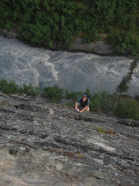 Tsaina River Gorge solo climb out