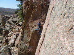 Rock Climbing Photo: Low on this delightful route.